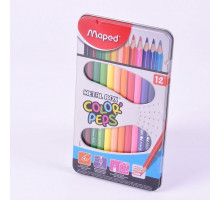 "Карандаши 12цв ""Color pep's"" металл.кор. 832014 Maped"