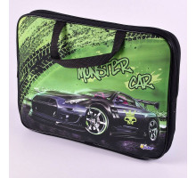 "Папка-портфель текстиль ПМД 2-20 ""Monster car"" п/э 55470 Оникс"