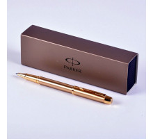 Ручка Parker IM Deluxe Brushed Metal Gold GT роллер R0811700