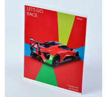 "Тетрадь 40л ""Let's go race"" выб.лак 40Т5вмВ1 Hatber"